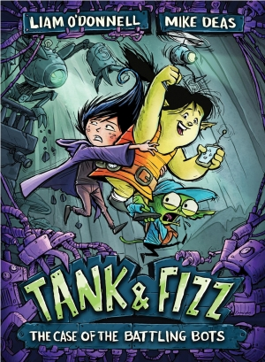 Cover zur kostenlosen eBook-Leseprobe von »Tank & Fizz: The Case of the Battling Bots«