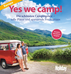 Cover zur kostenlosen eBook-Leseprobe von »HOLIDAY Reisebuch: Yes we camp! Europa«